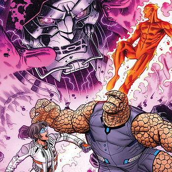 Marvel Two-in-One #5 cover by Nick Bradshaw and Morry Hollowell