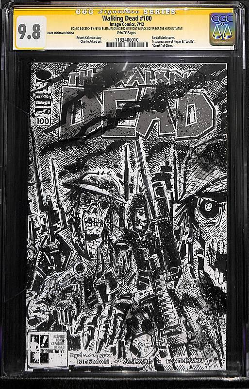 Comic Connect Walking Dead 100 Eastman Sketch