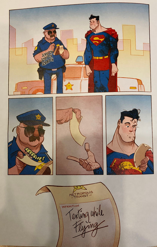 Superman in Trouble With the Police on Free Comic Book Day
