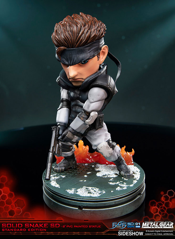 """Solid Snake Returns with New """"Metal Gear Solid"""" First 4 Figures Statue"""