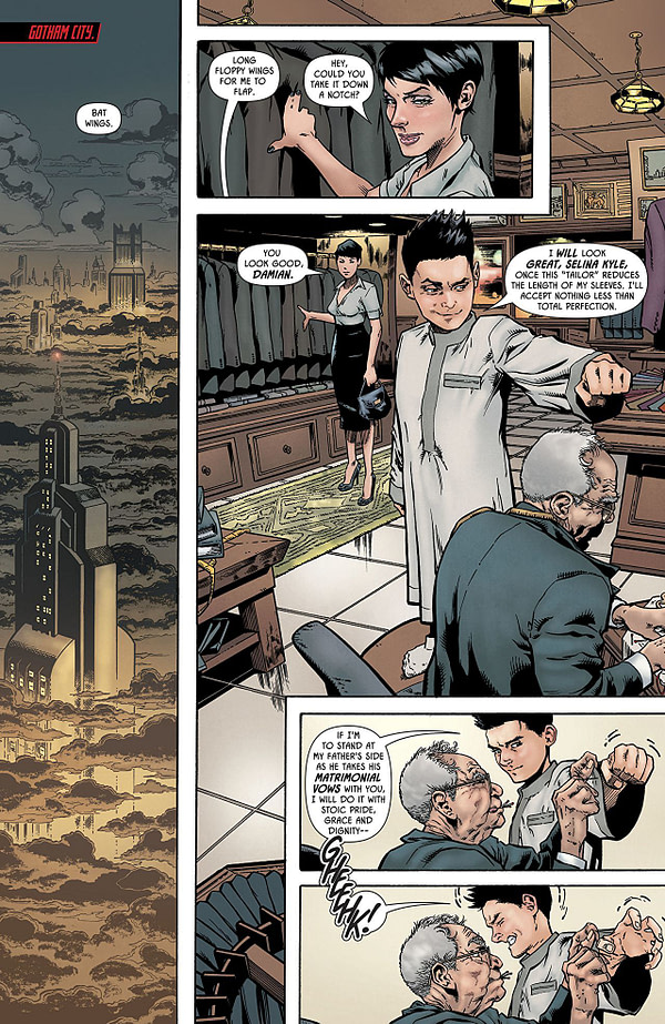 Batman Prelude to the Wedding #1: Robin vs Ras al Ghul art by Brad Walker, Andrew Hennessy, Mick Gray, and Jordie Bellaire
