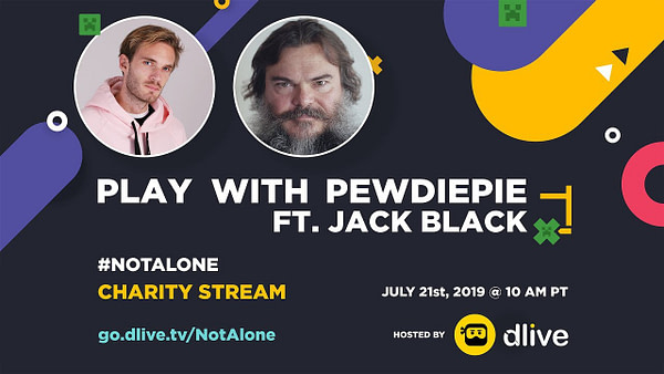 "PewDiePie & Jack Black Team Up For ""Minecraft"" Mental Health Charity"