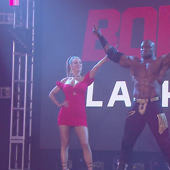 Bobby Lashley and Lana at WrestleMania 36