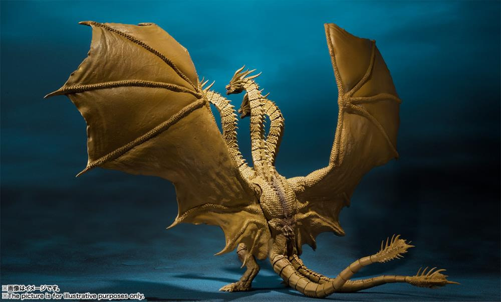 SH MonsterArts Godzilla King Ghidorah 5