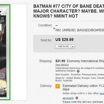 Batman #77 Now Sells For Up to $30 on eBay Before Comic Stores Open