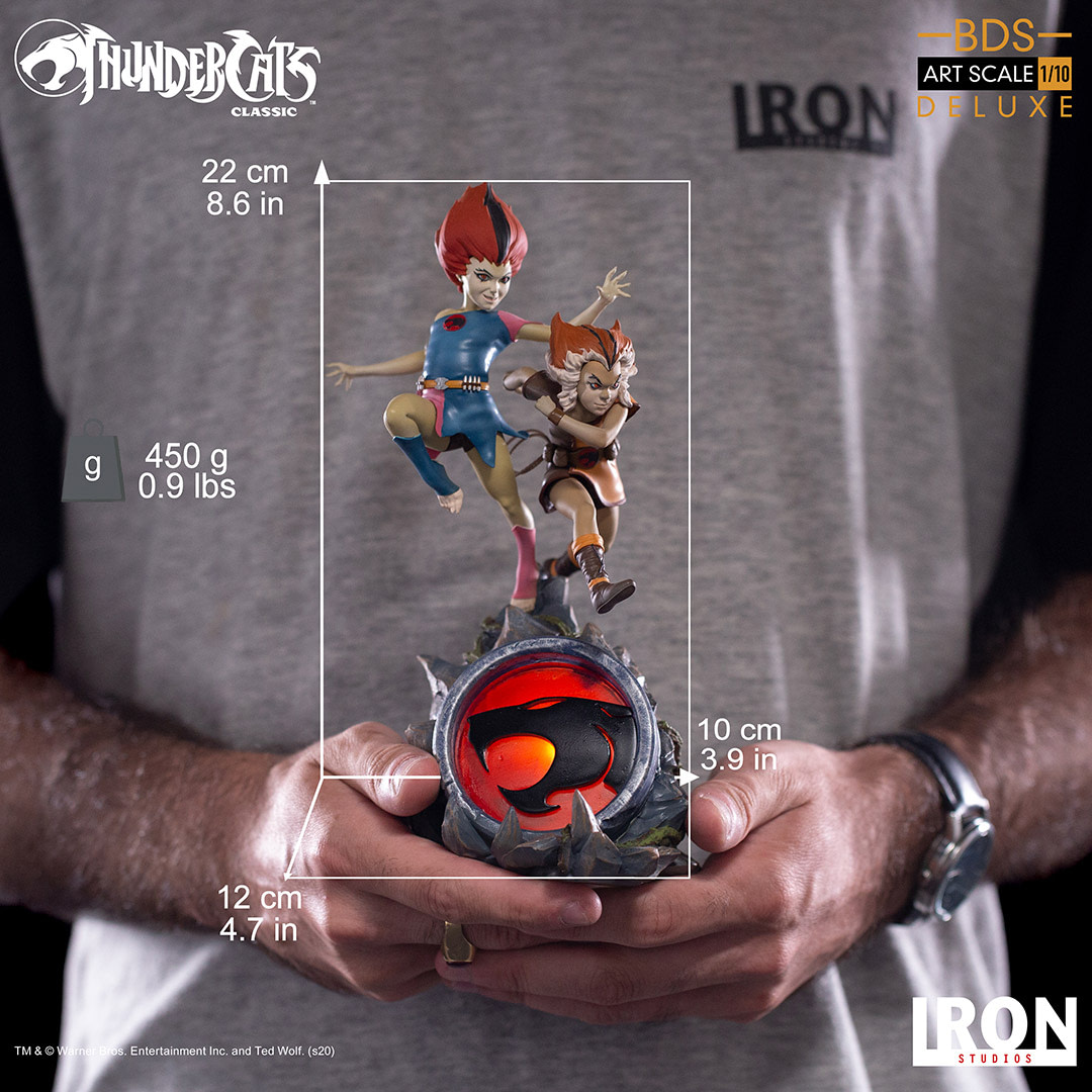 Thundercats WilyKit and WillyKat Get Playful iron Studios Statue