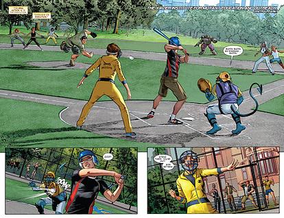 X-Men: Gold #13 art by Mike Mayhew and Rain Beredo