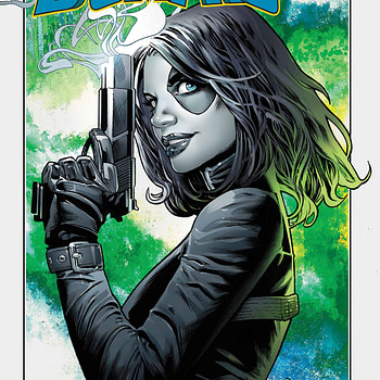 Domino #1 cover by Greg Land and Frank D'Armata