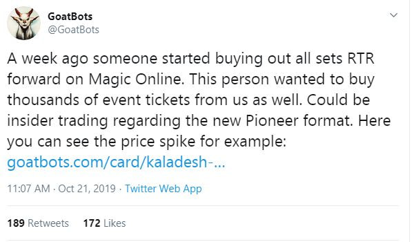 "On the Pioneer Format (and Early Price Spikes) - ""Magic: The Gathering"""
