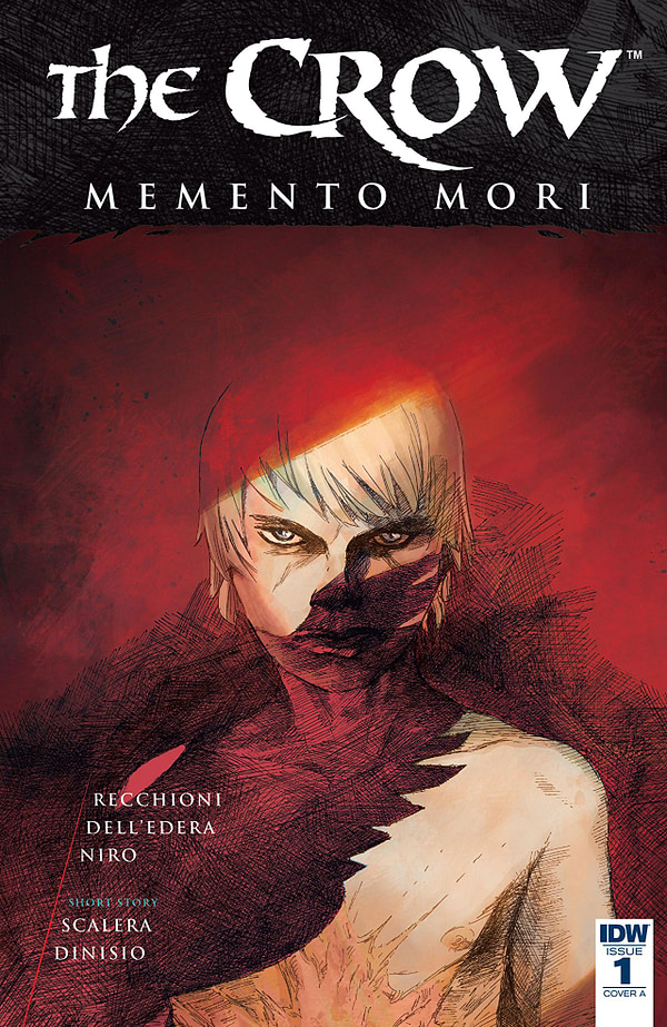 Crow: Memento Mori #1 cover by Werther Dell'Edera and Davide Furno