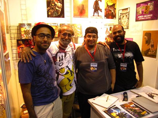Meta Desi Comics team with Indian comic legend Aabid Surti