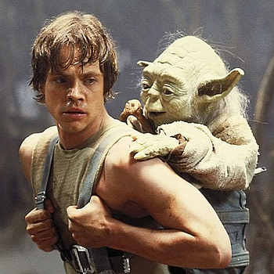 Star Wars: Episode V - The Empire Strikes Back Mark Hamill and Yoda