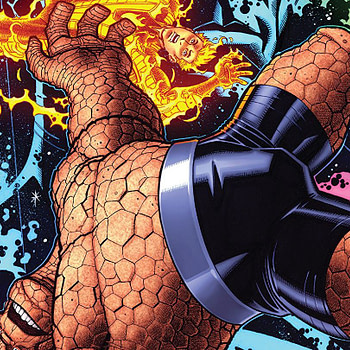 Marvel Two-in-One #4 cover by Nick Bradshaw and Morry Hollowell
