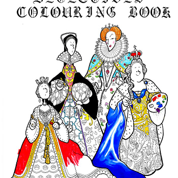 Dead Queen Detectives colouring book