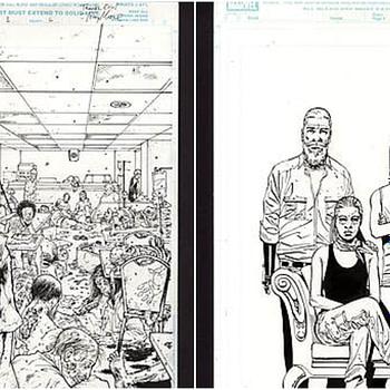 Comic Connect Walking Dead Art Auction Collage