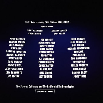 Creator Credits For Birds Of Prey
