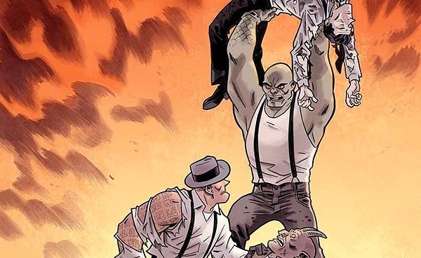 Damned #8 Cover by Brian Hurtt and Bill Crabtree