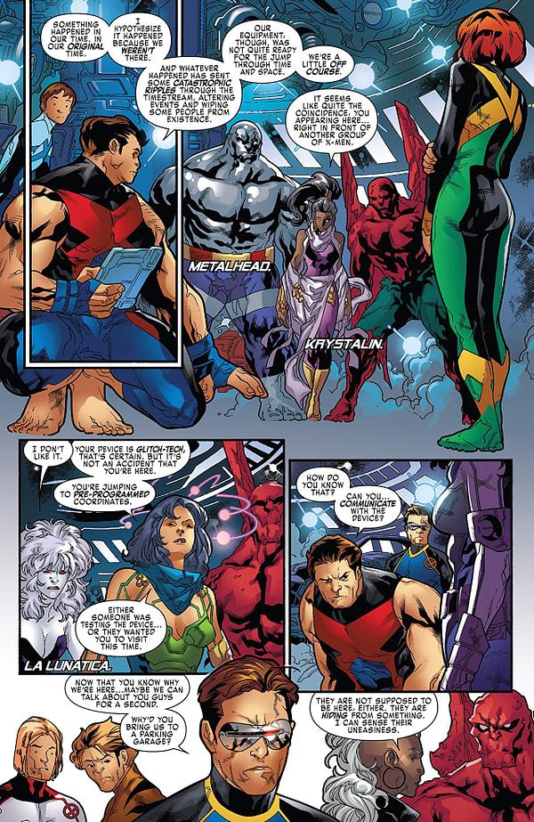 X-Men: Blue #17 art by R. B. Silva, Adriano di Benedetto, and Rain Beredo