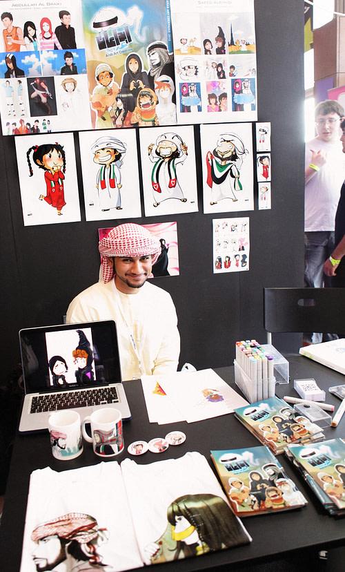 Abdullah Al Braiki at his booth
