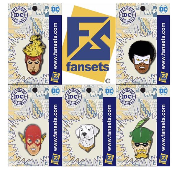 SDCC DC Comics Pins FanSets 3