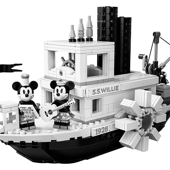 LEGO Ideas Steamboat Willie Mickey and Minnie Mouse Set 12
