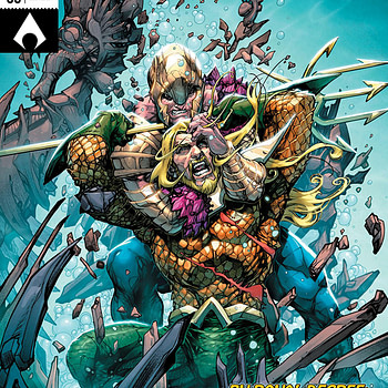 Aquaman #35 cover by Howard Porter and Hi-Fi
