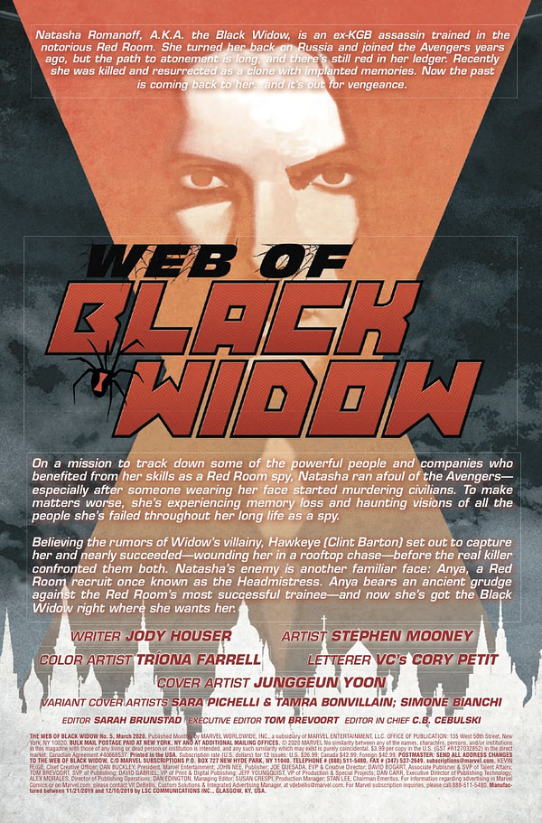 Web of Black Widow #5 [Preview]