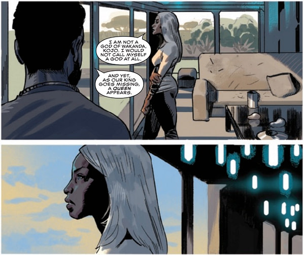 Storm Pulling a Last Jedi in Black Panther #13 (Preview)