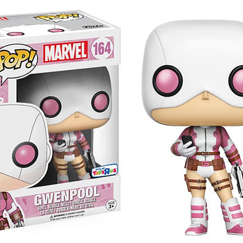 An image of the exclusive Toys R' Us Gwen Pool Funko Pop collectible figure.