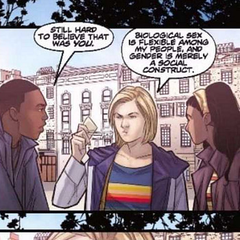 """""""Biological Sex is Flexible Among My People - and Gender is Merely A Social Construct"""" - The Tenth/Thirteenth Doctor Who Crossover Has The Talk"""