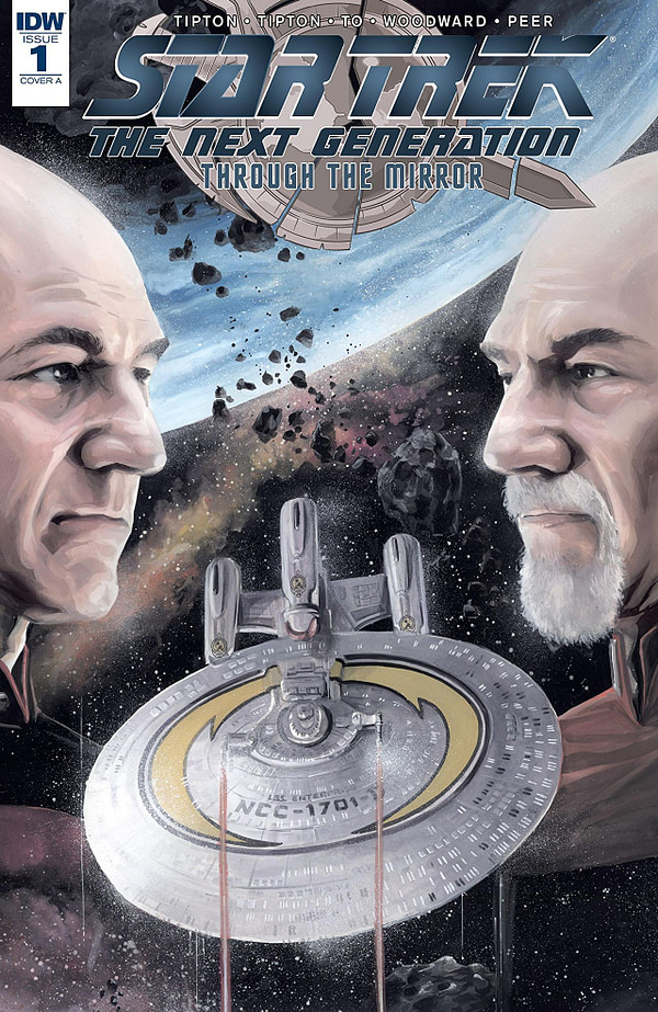 Star Trek the Next Generation: Through the Mirror cover by J.K Woodward