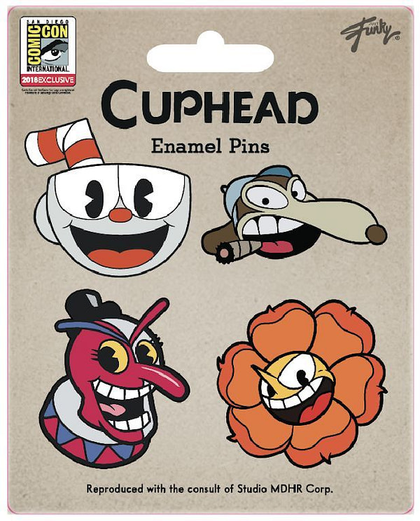 Cuphead SDCC Pin Set