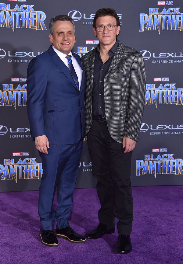 Anthony Russo and Joe Russo arrives for the 'Black Panther' World Premiere on January 29, 2018 in Hollywood, CA