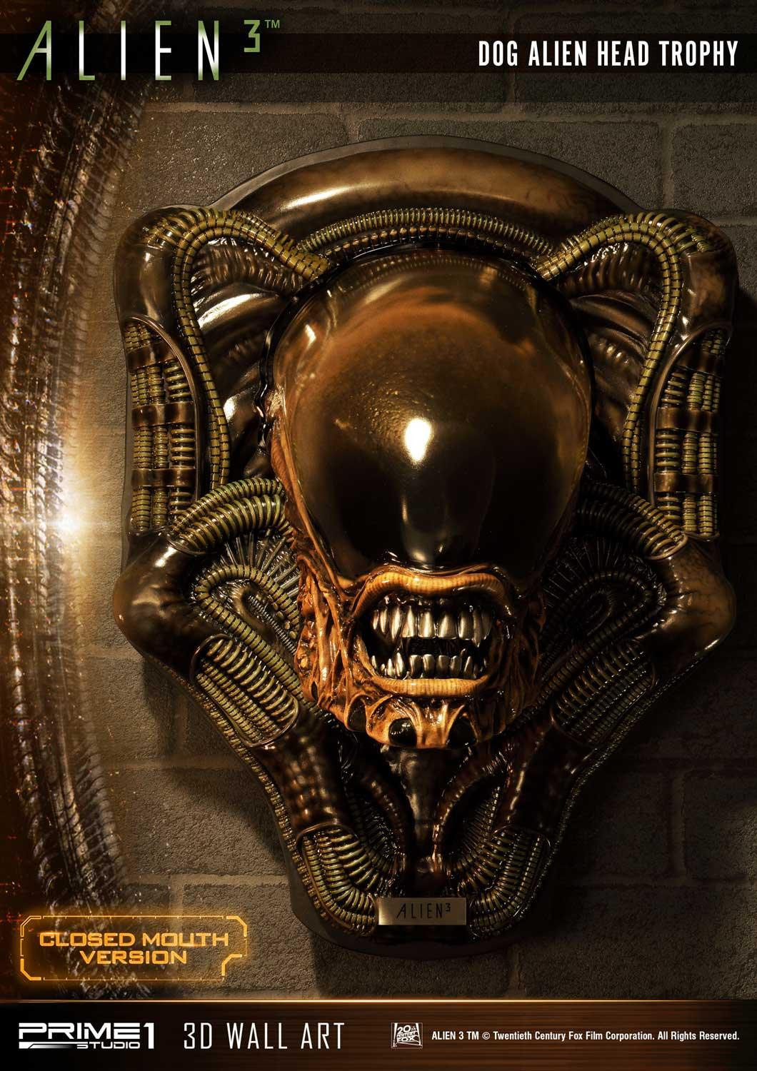 Alien 3 Dog Head Trophy Mounts Available from Prime 1 Studio