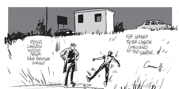 Peter Cannon, Eddie Campbell and Paul Gravett - The Man At The Crossroads