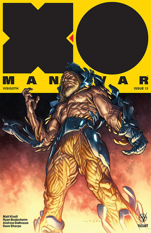 X-O Manowar #13 cover by Lewis Larosa