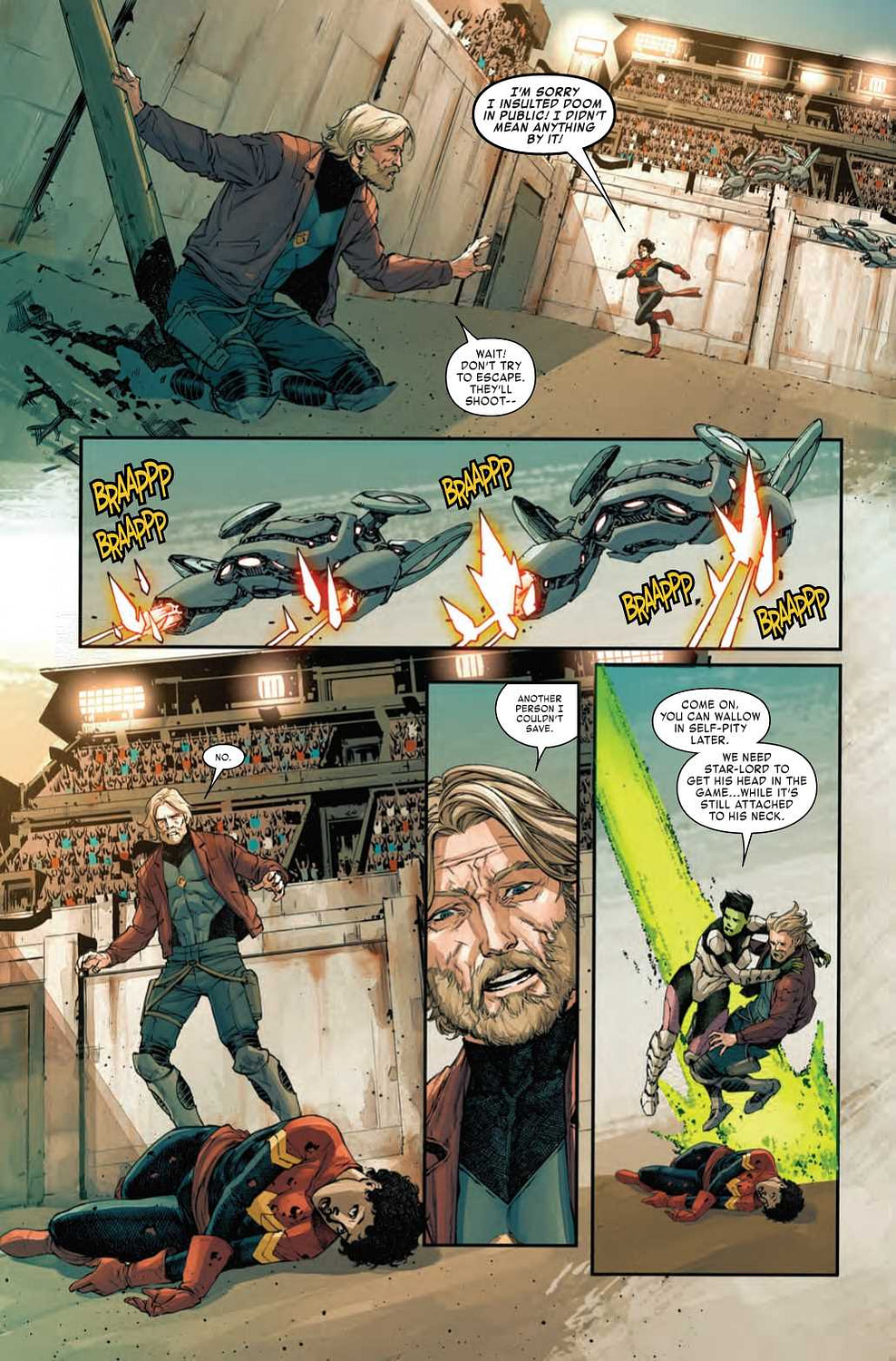 The Deaths of Thor, Captain Marvel, and Captain America - Old Man Quill #4 Preview (Spoilers)