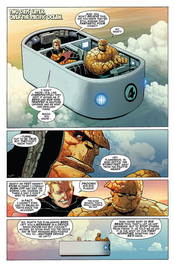 Marvel Two-in-One #2 art by Jim Cheung, John Dell, Walden Wong, and Frank Martin