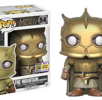 SDCC Funko Game of Thornes the Mountain Amrored