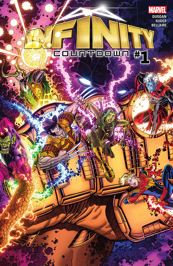Infinity Countdown #1 cover by Nick Bradshaw