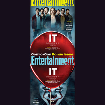 """""""IT: Chapter 2"""" The Loser's Club and Pennywise Grace the EW SDCC Covers"""
