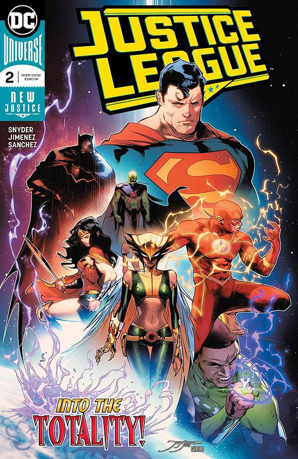 Justice League #2 cover by Jorge Jimenez and Alejandro Sanchez