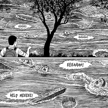 Pages 78 and 79 (double page spread) from Junji Ito's Smashed
