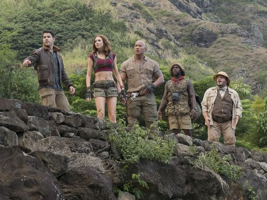 Jumanji: Welcome To The Jungle starring Dwayne Johnson