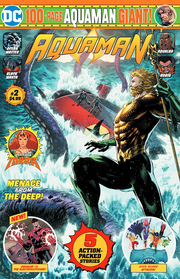 Details on Aquaman Giant #2 - But Batman Giant #2 and Crisis Giant #2 HAve Orders Cancelled