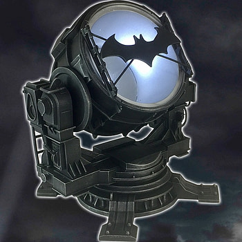 DC Batman Arkham Knight Bat-Signal Light Up Statue