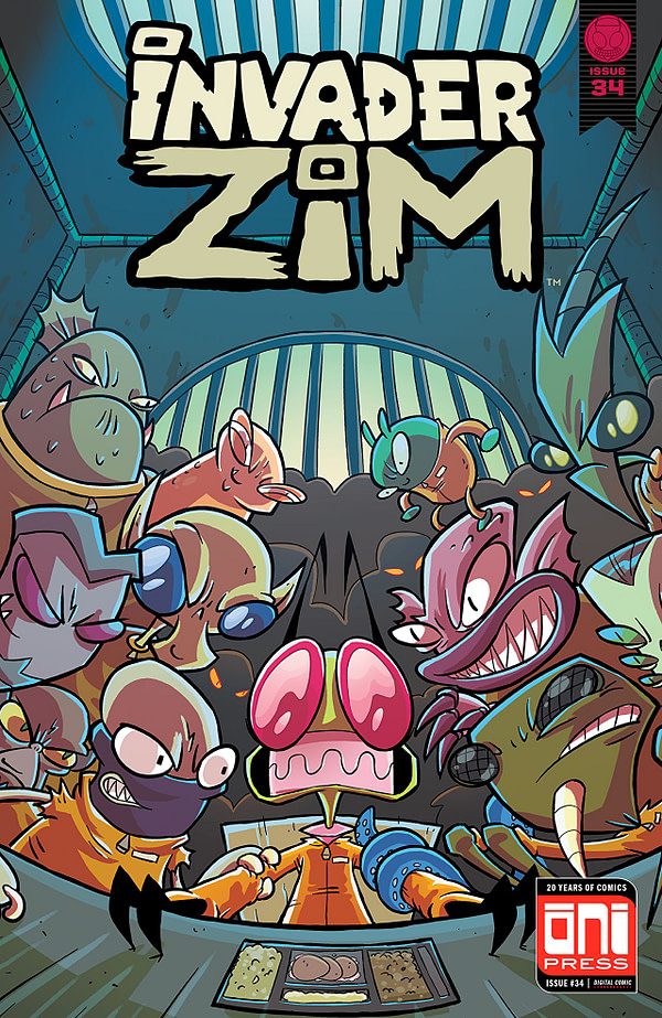 Invader Zim #34 cover by Fred C. Stresing and Warren Wucinich