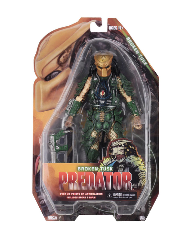 NECA Broken Tusk Predator Package 1