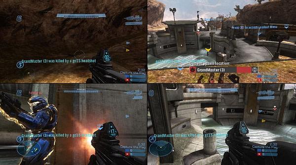 4-way split-screen in Halo 4