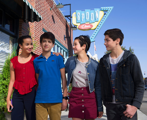 """ANDI MACK - In """"Andi Mack,"""" a series about a 13 year-old girl and her friends each figuring out who they are, the teen characters model inclusion and respect for others. (Disney Channel/Fred Hayes)"""
